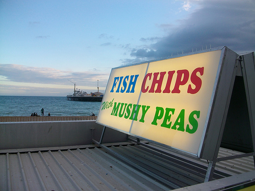fish chips seaside photo