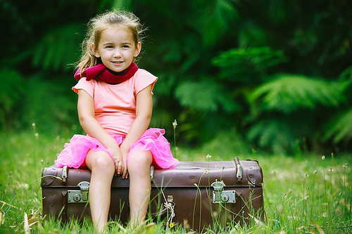 child suitcase photo