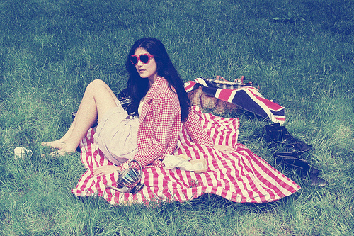 picnic retro photo