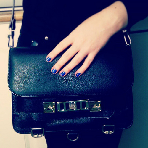 designer handbag black photo