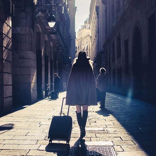 girl suitcase photo