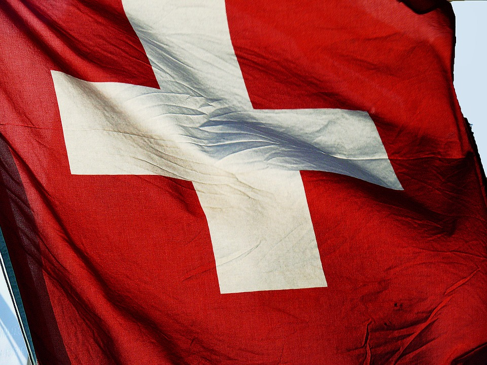 Swiss flag photo