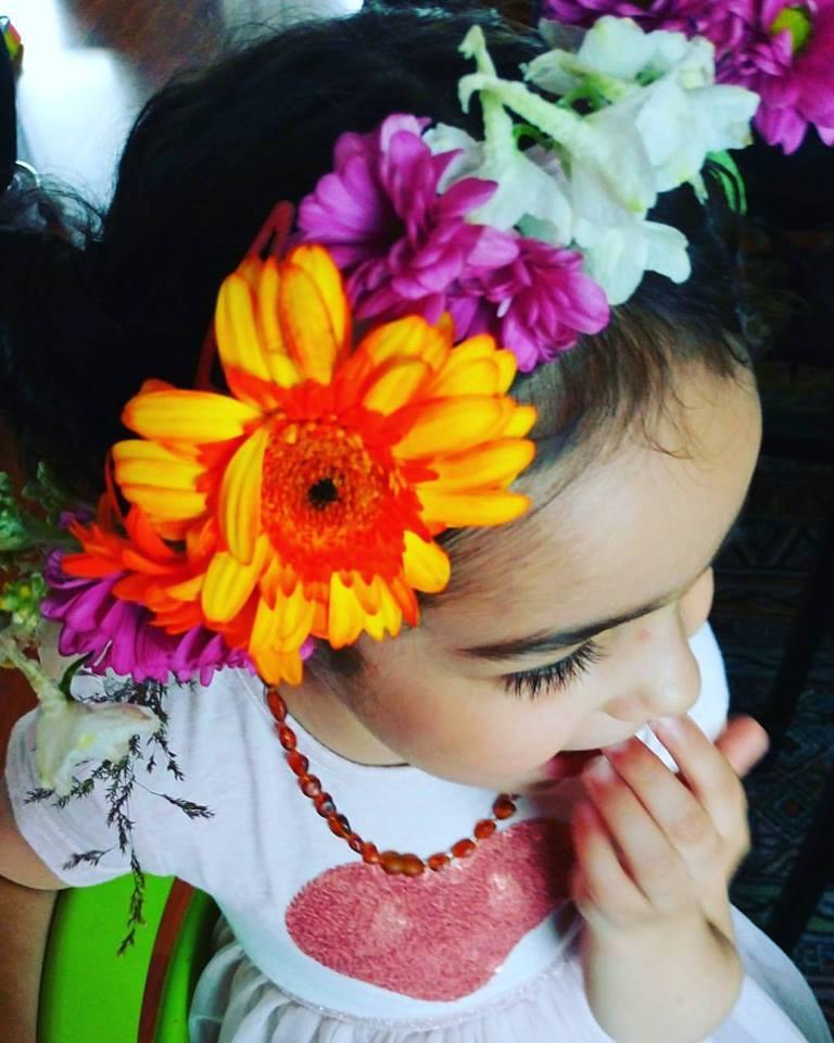happy child with allergies photo