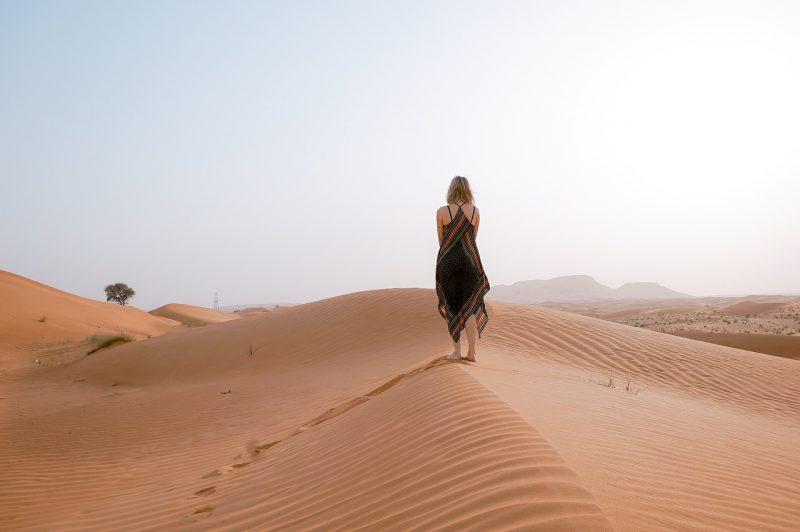 expat definition - traveler in the desert photo