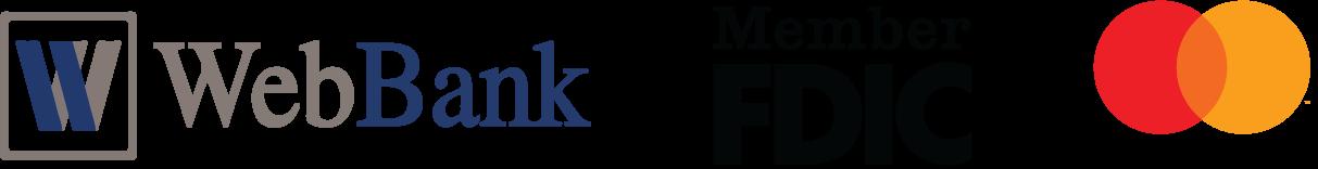 WebBank FDIC & Mastercard logos