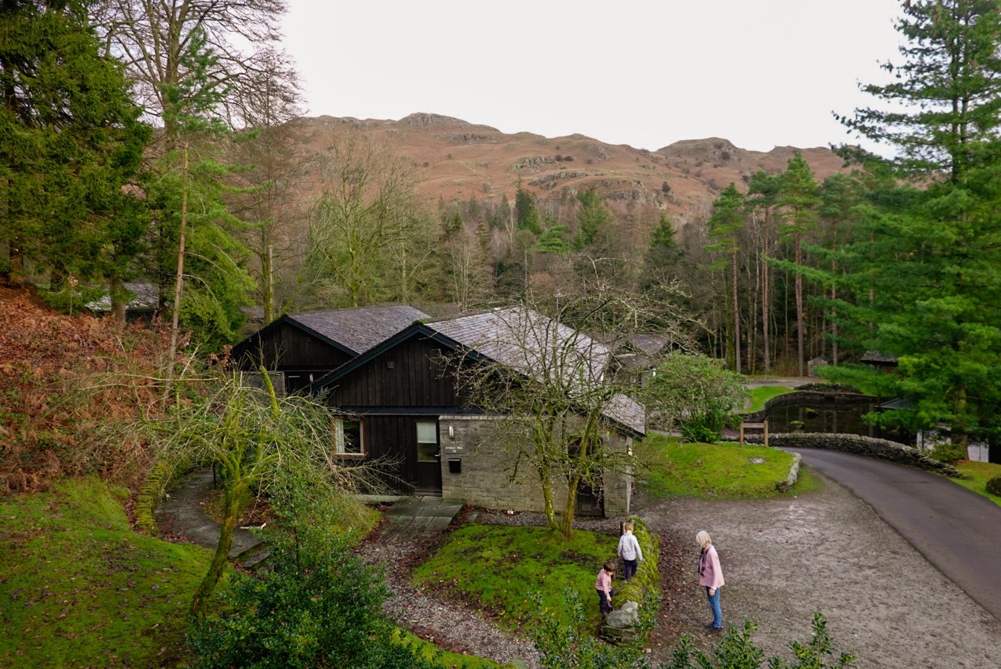 Langdale Hotel log cabin