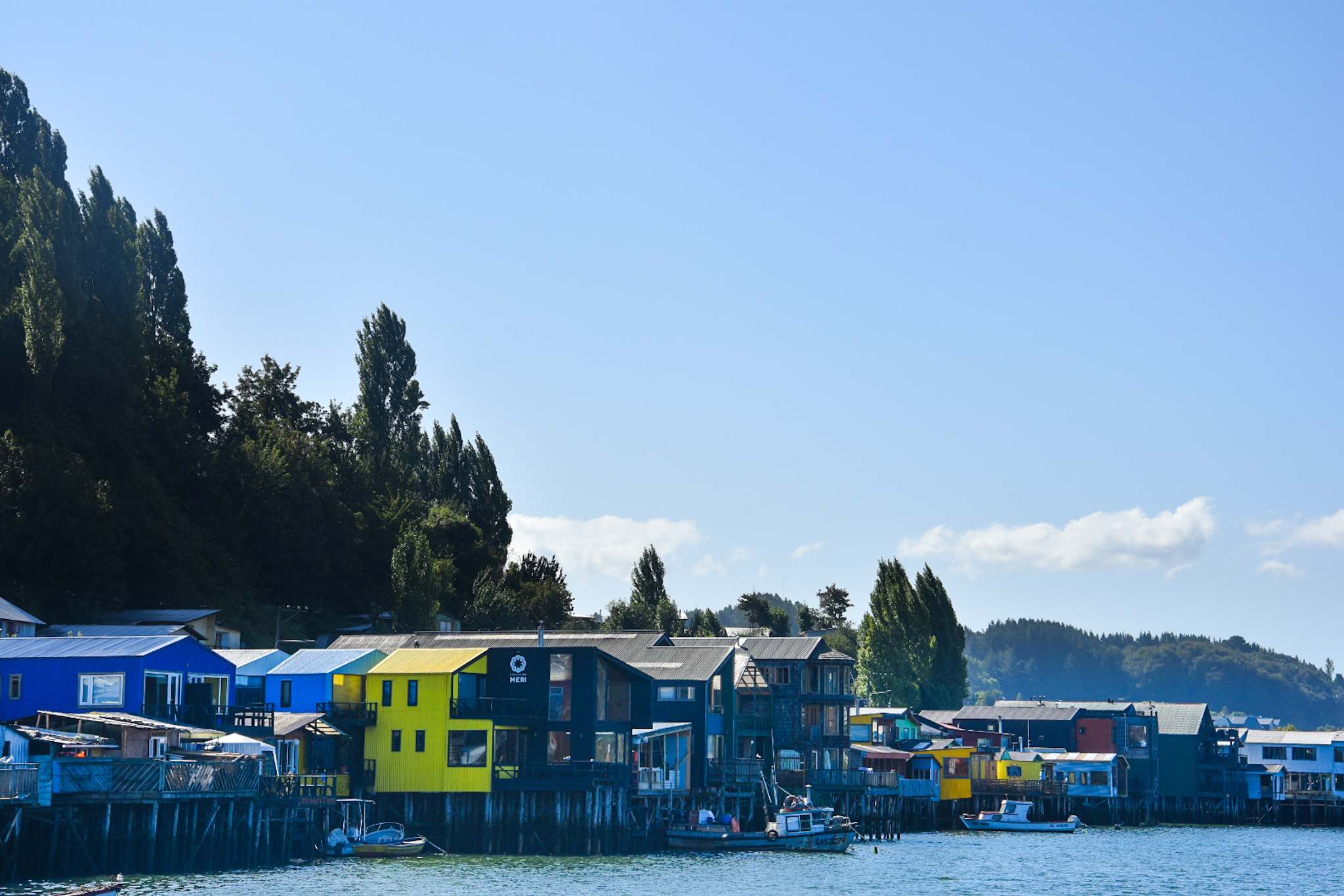 Chiloe houses on stilts