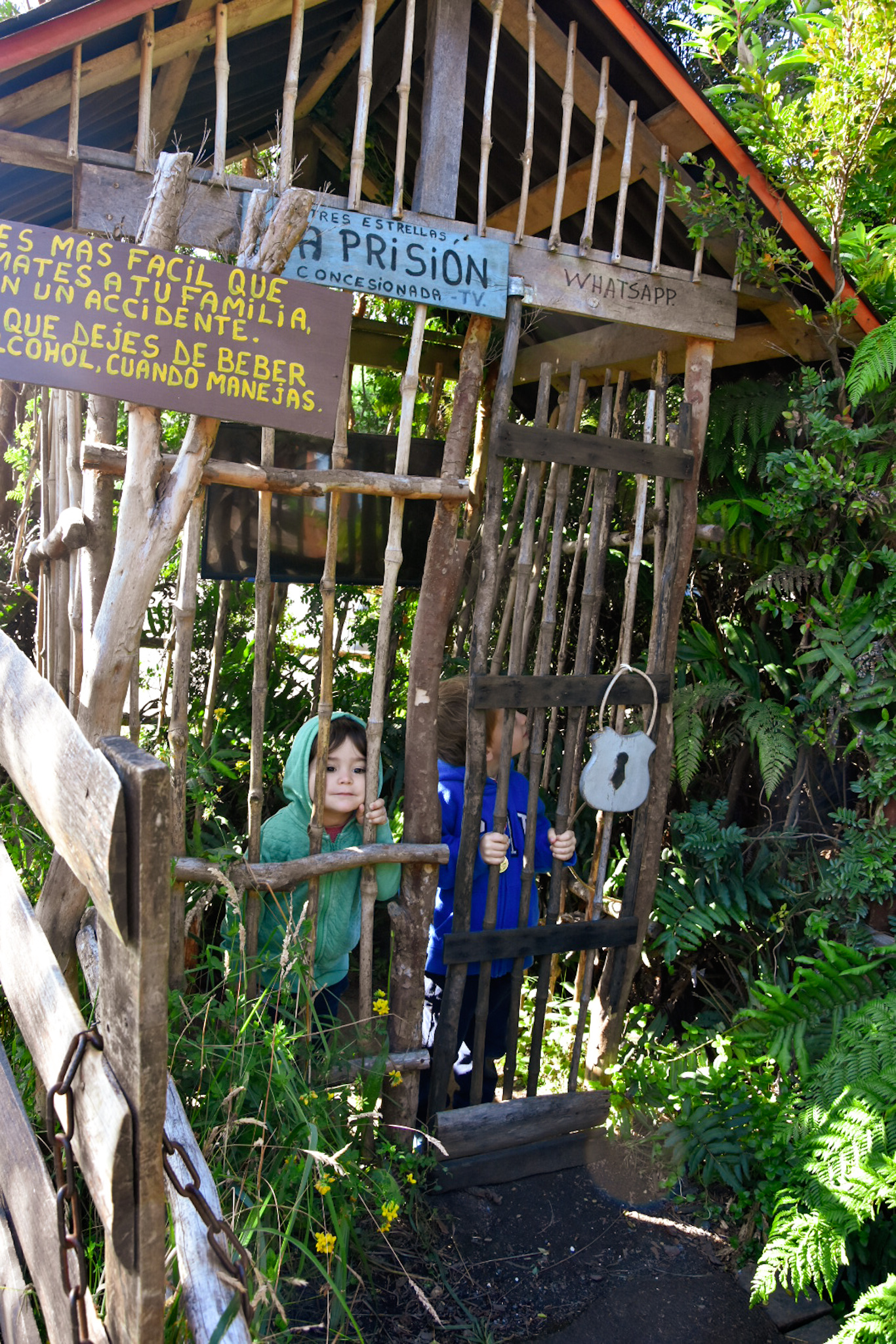 things to do with children in Chile : the mythological park of Chiloe island