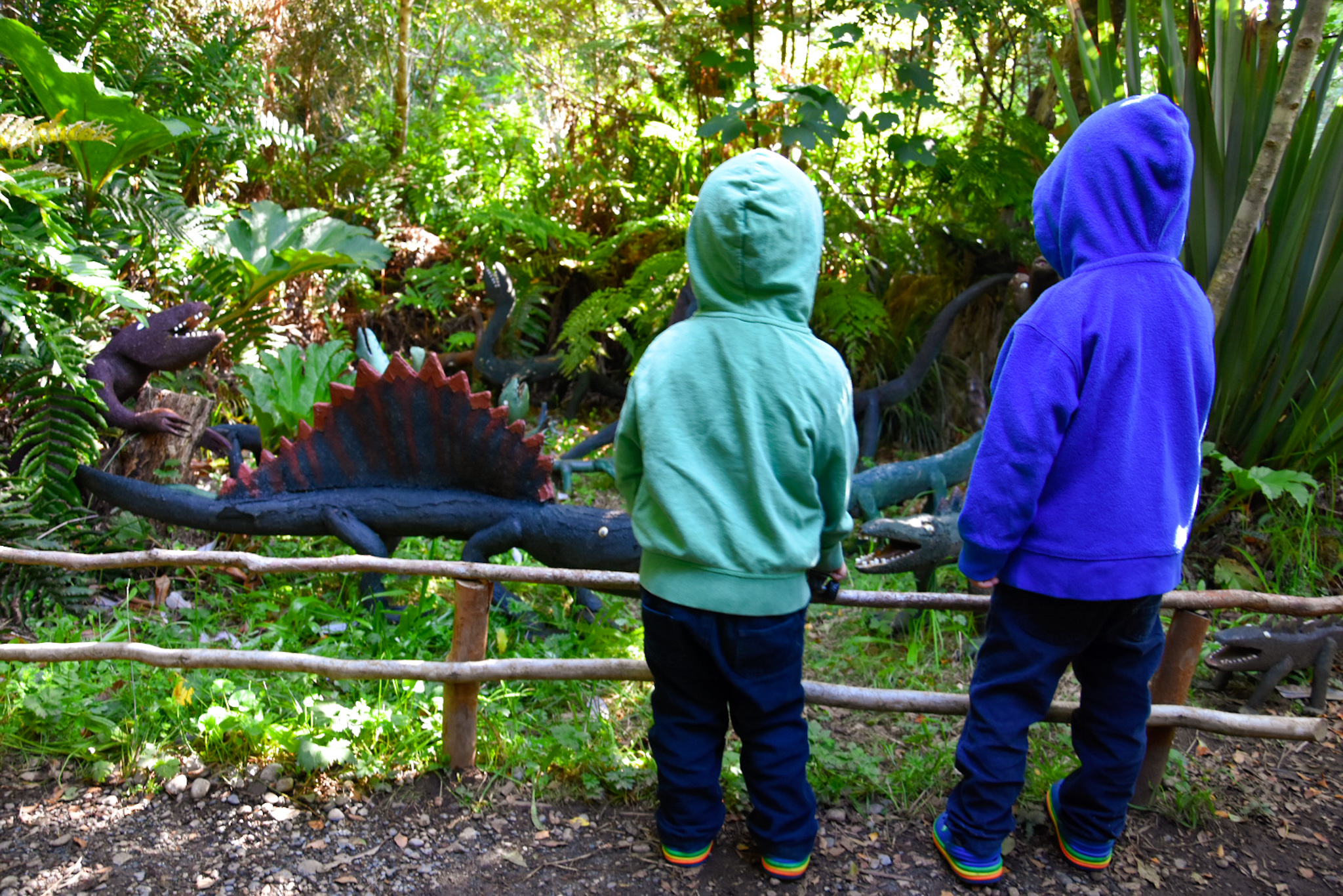 things to do with kids: mythological park near Ancud, Chiloe island, Chile