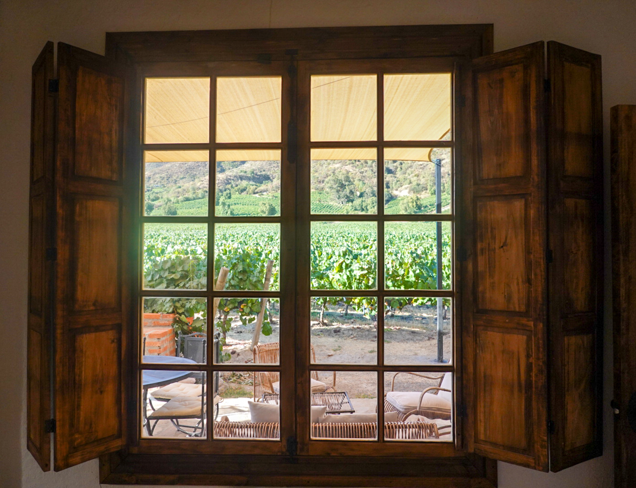 view from bedroom in Vina Montes Guest House