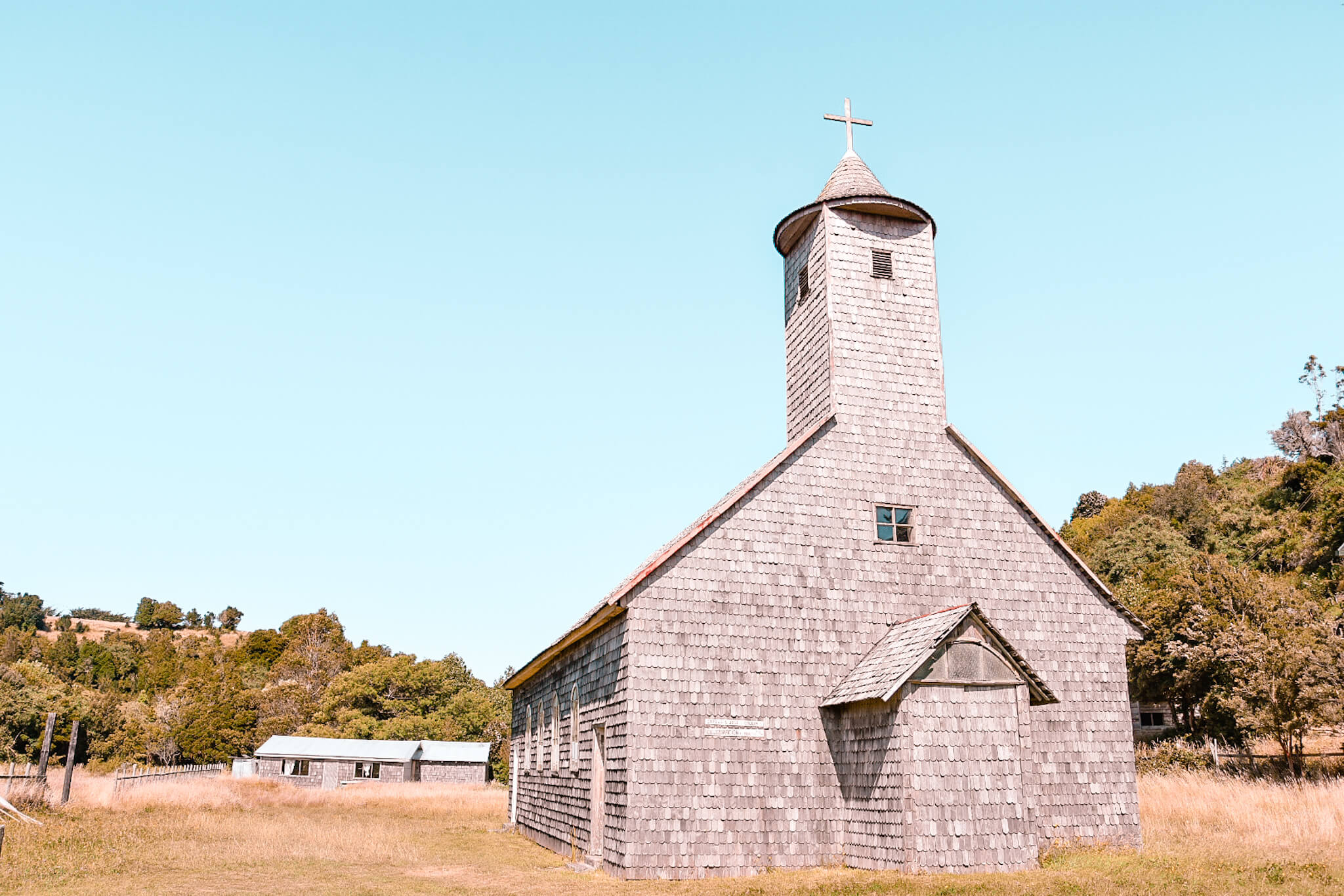 wooden church of Chiloe island, Chile