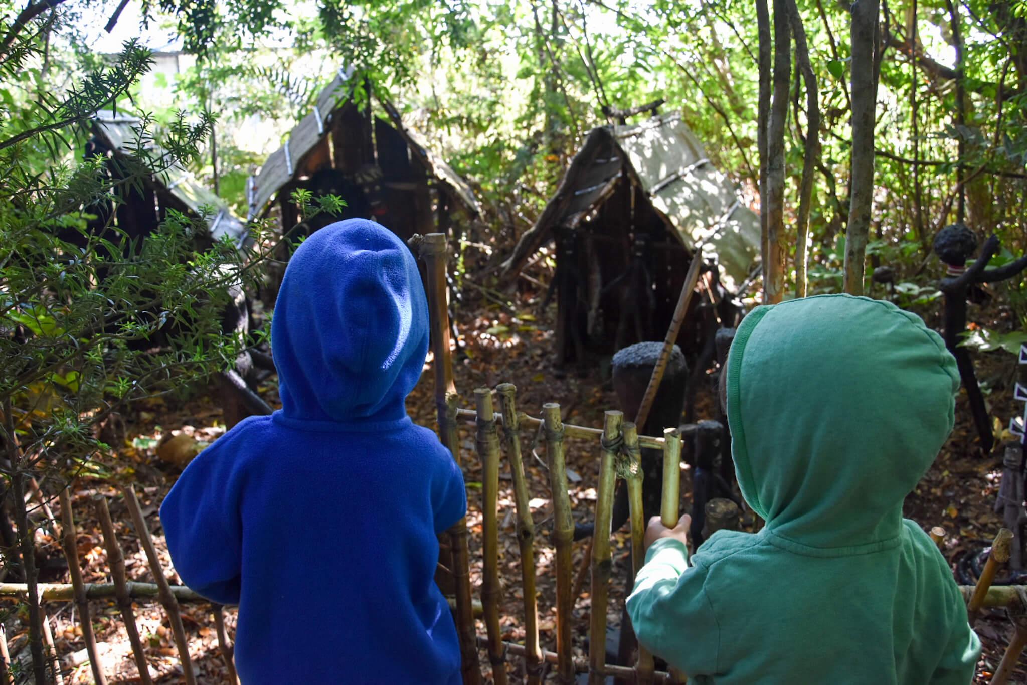 Mythological park near Ancud, Chiloe