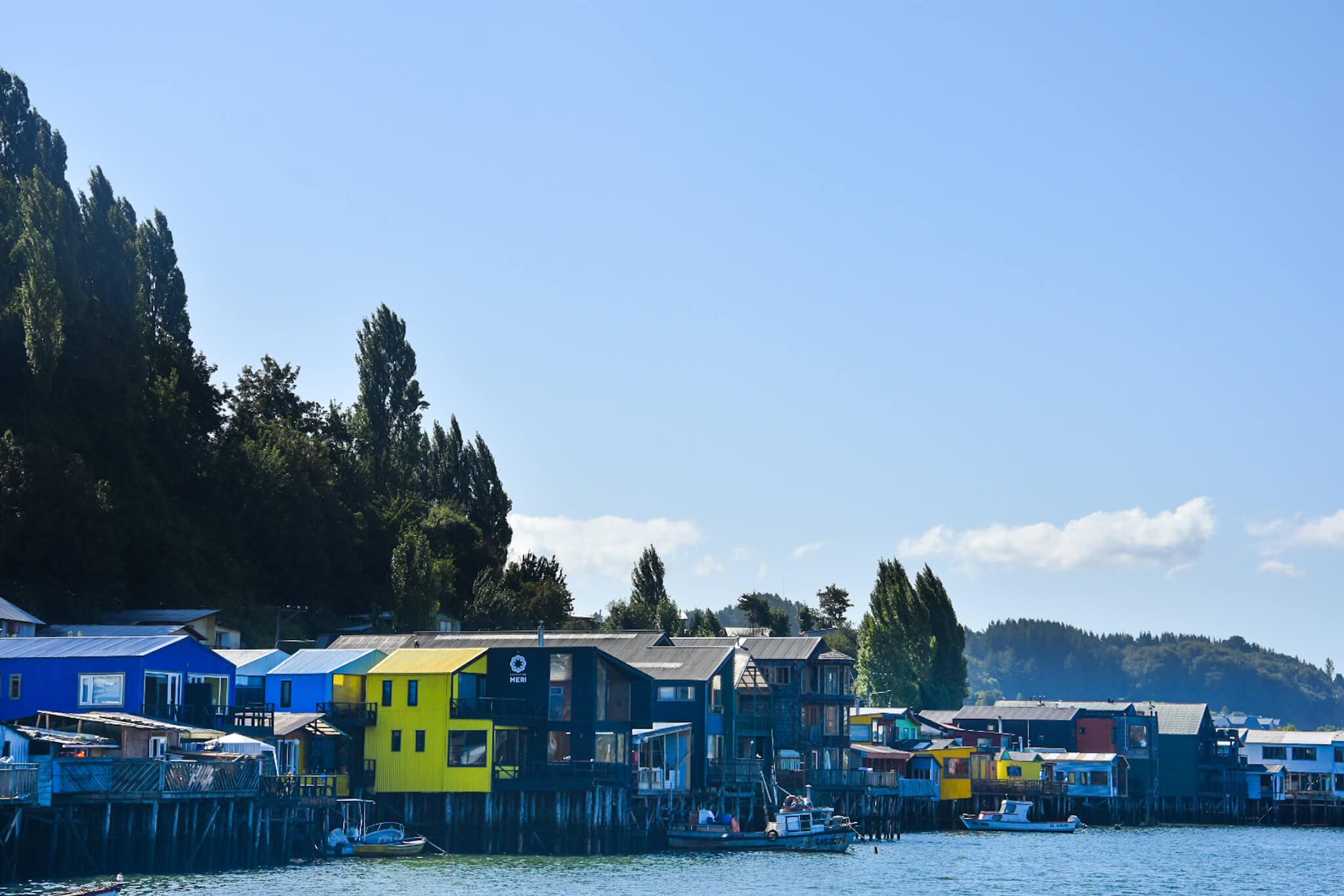 houses on stilts, Chiloe island, Chile