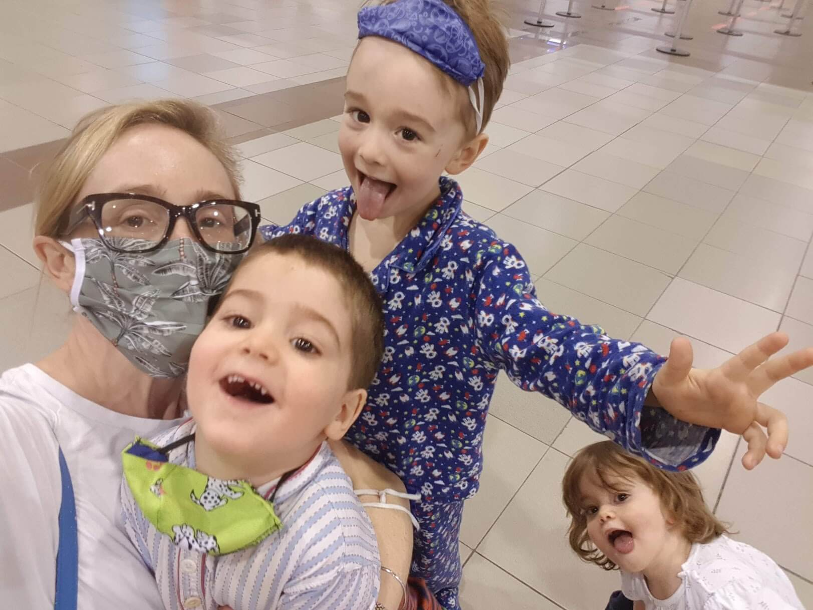 Flying during COVID with a toddler and small children