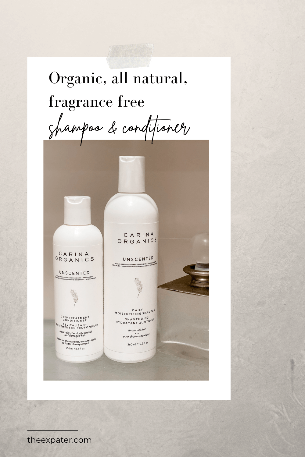 fragrance free shampoo & conditioner